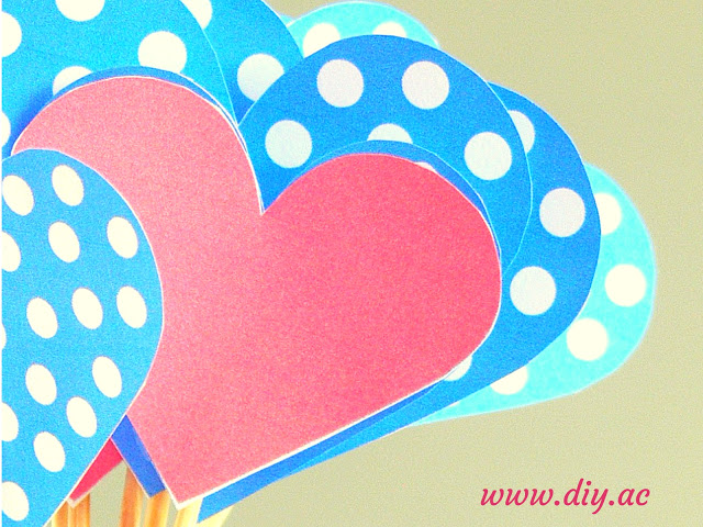 Free printable heart cupcake toppers | diy.ac