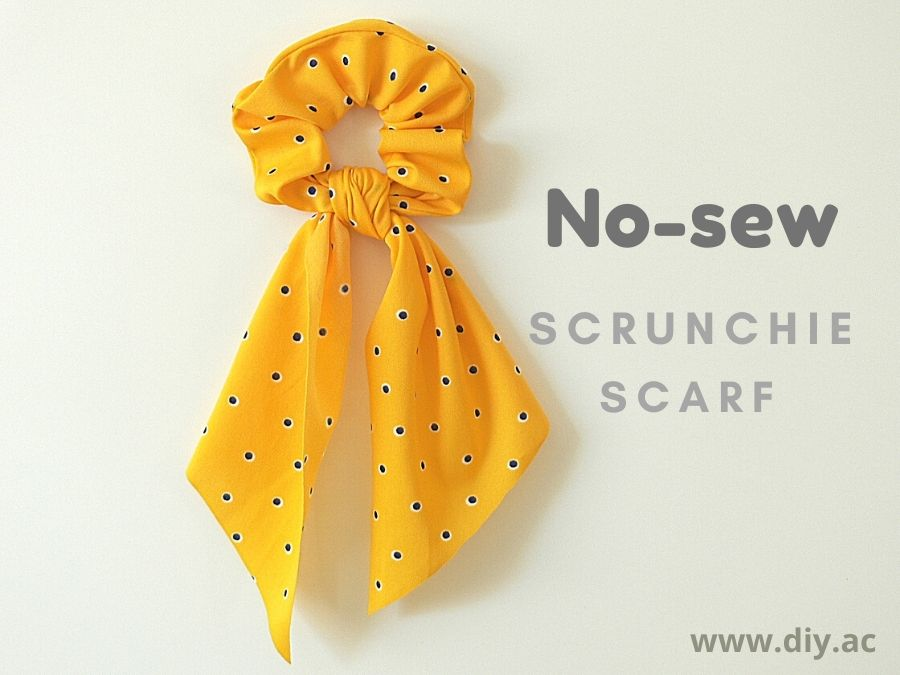 No-sew scrunchie scarf DIY | diy.ac