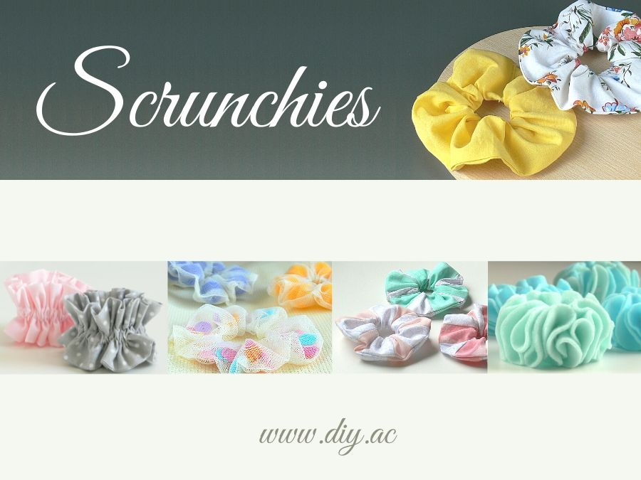 How to make 5 different types of scrunchies | diy.ac